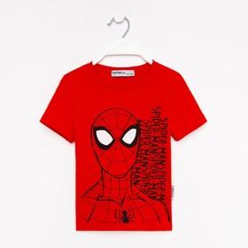 """Футболка MARVEL """"Человек паук"""", рост 122-128 (34), красный"""