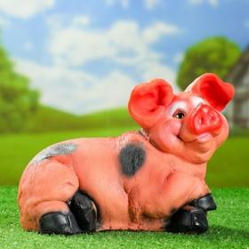 Садовая фигура 'Свинья лежит на боку' 23см Ош