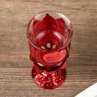 "Подсвечник пластик, стекло на 1 свечу ""Роза"" бокал на ножке красный 13х6х6 см - Фото 4"
