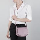 Сумка женская, отдел на молнии, 2 наружных кармана, цвет розовый