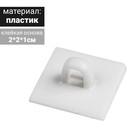 Квадратное потолочное крепление на двухстороннем скотче, цвет белый