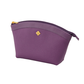 Косметичка Purpur, матовая кожа, цвет пурпурный