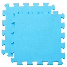 Мягкий пол универсальный, цвет голубой
