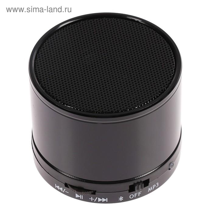 Беспроводная портативная колонка Perfeo CAN, FM, MP3, microSD, AUX, 3 Вт, 500 мАч, черная