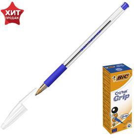 Ручка шариковая BIC Cristal Grip, узел 1.0 мм, чернила синие