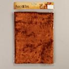 Плюш винтажный 50х50см, рыжий 100% п/э - Фото 1