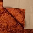 Плюш винтажный 50х50см, рыжий 100% п/э - Фото 2
