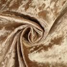 Плюш винтажный 50х50см, темный беж 100% п/э - Фото 4