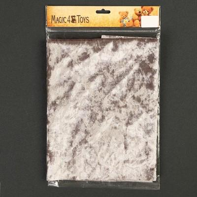 Плюш винтажный 50х50см, серый 100% п/э - Фото 1