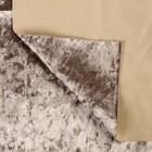 Плюш винтажный 50х50см, серый 100% п/э - Фото 2
