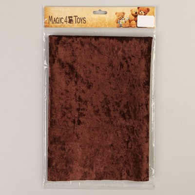 Плюш винтажный 50х50см, т.коричневый 100% п/э - Фото 1