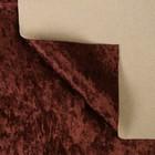 Плюш винтажный 50х50см, т.коричневый 100% п/э - Фото 2