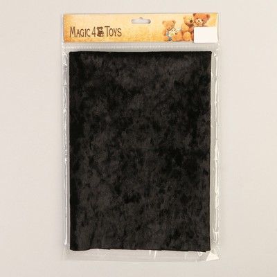 Плюш винтажный 50х50см, черный 100% п/э - Фото 1