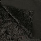 Плюш винтажный 50х50см, черный 100% п/э - Фото 2