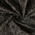Плюш винтажный 50х50см, черный 100% п/э - Фото 4