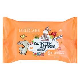 Влажные салфетки Delicare, для детей, Зайчики, 15 шт. Ош