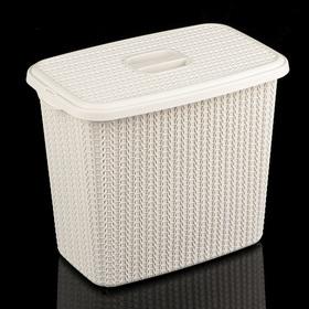 Контейнер для стирального порошка «Вязание», 6 л, цвет белый ротанг Ош