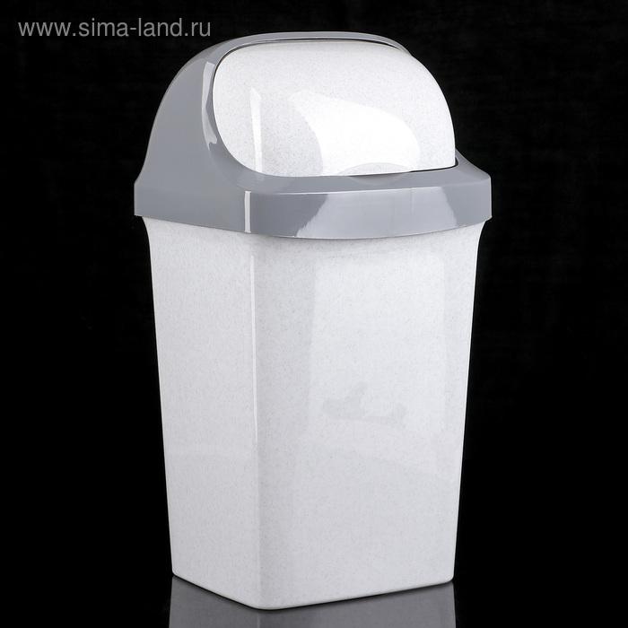 """Контейнер для мусора 15 л """"Ролл Топ"""", цвет мраморный"""