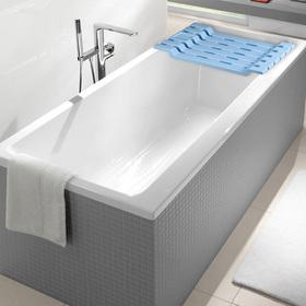 Полка на ванну, 69×30×6 см, цвет голубой