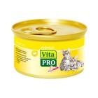 Влажный корм VitaPRO Luxe для котят, курица, мусс, ж/б, 85 г