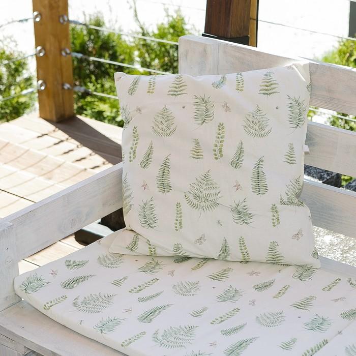 Декоративная подушка уличная Этель «Листья», 45 × 45 см, репс с пропиткой ВМГО, 100%-ный хлопок