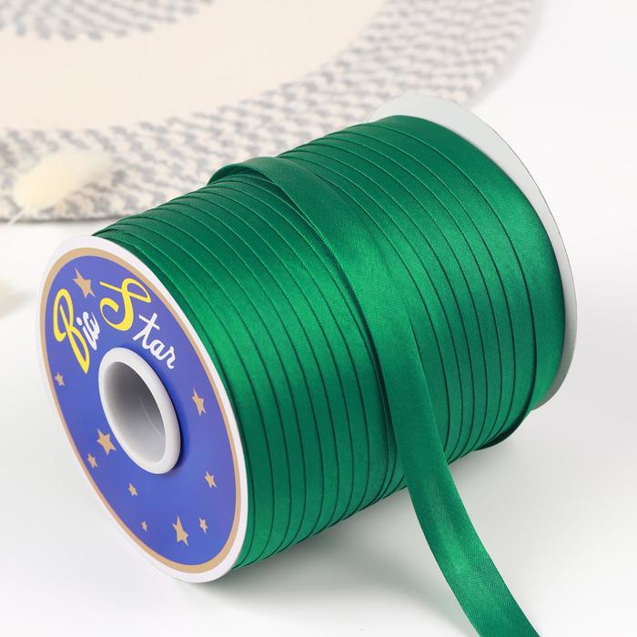 Косая бейка, 15 мм × 132 м, цвет зелёный F243