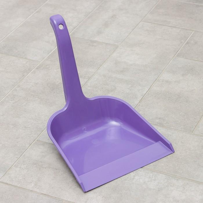 Совок для мусора квадратный с ручкой СибПолимер, цвет МИКС