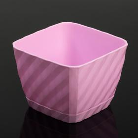 """Кашпо 1 л """"Классика"""", цвет розовый"""