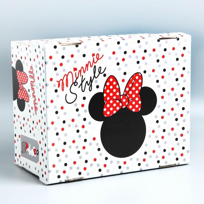 "Складная коробка ""Minnie Mouse"", Минни Маус, 30,5 х 24,5 х 16,5"