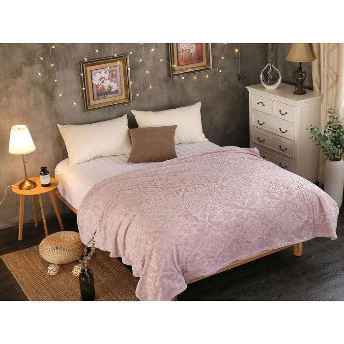 Плед Moreska, размер 150 × 200 см, цвет бледно-розовый, велсофт 300 гр/м2