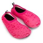 Аквашузы детские MINAKU «Капли» цвет розовый, размер 34-35 - Фото 1