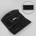 Чехол для парикмахерских ножниц, на кнопке, 22 × 9,5 см, цвет чёрный