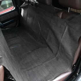 Накидка на заднее сиденье защитная, спанбонд, черная