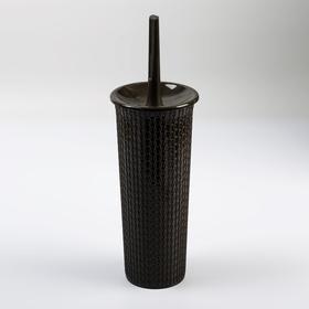 Ёрш для унитаза с подставкой Ajur, 11,5×11,5×36,5 см, цвет венге