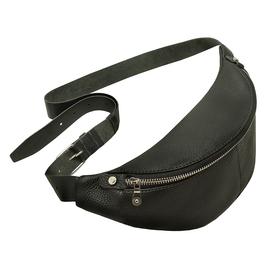 Поясная сумка, отдел на молнии, регулируемый ремень, цвет черный