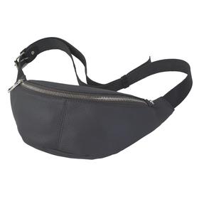 Поясная сумка, отдел на молнии, регулируемый ремень, цвет серый