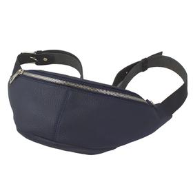 Поясная сумка, отдел на молнии, регулируемый ремень, цвет синий
