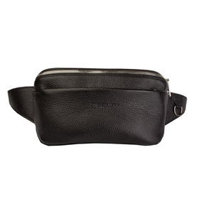 Поясная сумка, 2 отдела, регулируемый ремень, цвет черный