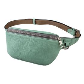 Поясная сумка, отдел на молнии, регулируемый ремень, цвет ментол