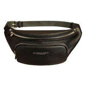 Поясная сумка, 2 отдела на молнии, регулируемый ремень, цвет черный