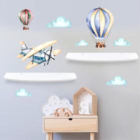 Набор полок с декоративными наклейками «Воздушный шар», 2 шт Ош