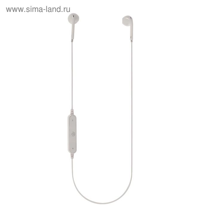 Наушники BB BB-BH-41-06, беспроводные, вкладыши, микрофон, BT v4.1, 50 мАч, белые