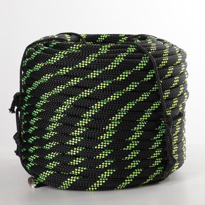 Верёвка 40-прядная «Высота 12», ПА статика, d=12 мм, 50 м, цвет МИКС