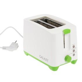 Тостер Galaxy GL 2907, 800 Вт, 7 режимов прожарки, 2 тоста, зелёный Ош