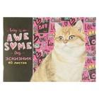 Эскизник А4, 40 листов на скрепке «Великолепный котик», бумажная обложка, блок 80 г/м?