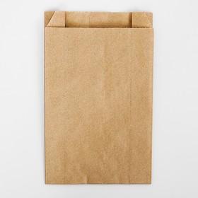 Пакет бумажный фасовочный, крафт, V-образное дно 22,5 х 14 х 6 см