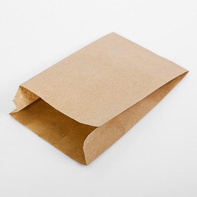 Пакет бумажный фасовочный, крафт, V-образное дно 20 х 14 х 6 см - Фото 1