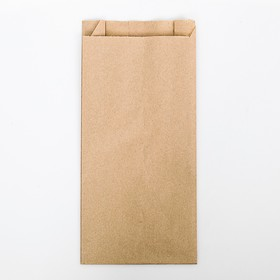 Пакет бумажный фасовочный, крафт, V-образное дно 30 х 14 х 6 см