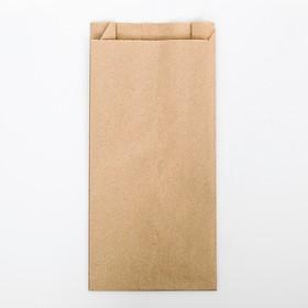 Пакет бумажный фасовочный, крафт, V-образное дно 30 х 14 х 6 см Ош