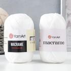 "Пряжа-шнур ""Macrame Макраме"" 100% полиэстер 130м/90гр (154 белый)"